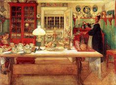 "Carl Larsson (1853-1919), Sweden | ""The Kitchen"" 1901"