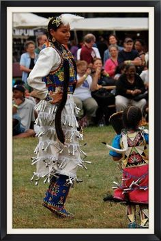 Ladies' Jingle Dance,  Beautiful mother/daughter team