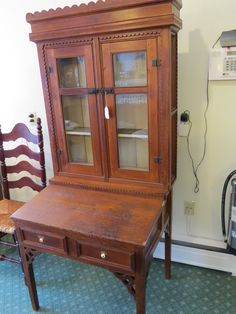Early Plantation Desk with Original Pulls and Hinges