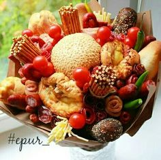 Food Bouquet, Edible Bouquets, Sweet Box, Edible Arrangements, Holidays And Events, Fresh Fruit, Fruit Salad, Veggies, Gifts