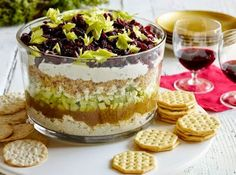 The Best Holiday Party Dips... Seven-Layer Cranberry Cobb Dip Start your holiday celebrations off right with the best dip recipes that will keep holiday guests dipping for more! I have personally made this and it was the party hit! Will use it many more times.  Teelie Turner Shopping Network - Google+ www.teelieturner.com