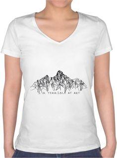 Terrible Art T-shirt Kendin Tasarla - Bayan V Yaka Tişört