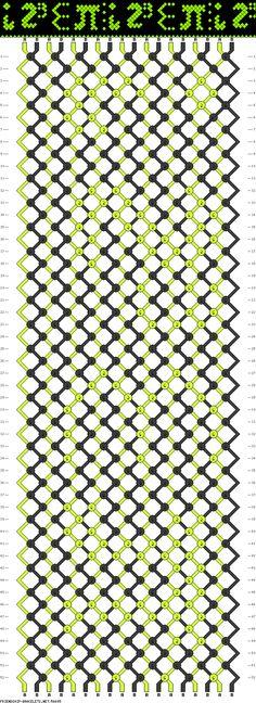Friendship Bracelet Pattern - i 8 sum pi