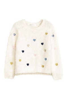 Shop kids clothing and baby clothes at H&M – We offer a wide selection of children's clothing at the best price. Shop online or in a store nearby. Baby Girl Sweaters, Fluffy Sweater, Sweater Shop, Kids Wear, Children Wear, Fashion Kids, Pull, Kids Outfits, Casual