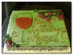 Wine grapes birthday cake More