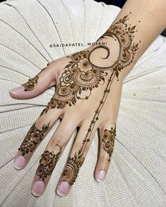 Mehndi Designs For Girls, Latest Mehndi Designs, Simple Mehndi Designs, Arte Mehndi, Henna Mehndi, Mehendi, Simple Henna, Unique Henna, Mhendi Design