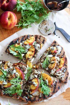 peaches pizza more peaches blue peaches flatbread peach pizza peaches ...