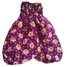 Our Vintage Silk Happy Harems are a perfect addition to any little gypsy's wardrobe. Made 100% vintage sari silk, with a super stretchy waist, they are perfect for little explorers, giving lots of room to move about. Also great for easy access to those little squishy nappy bums.Please note: As this fabric is vintage sari silk there may be slight variances from where the pattern is positioned on each pair.