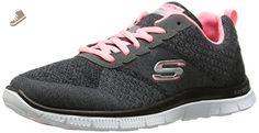 Skechers Sport Women's Simply Sweet Fashion Sneaker, Charcoal/Pink, 6 M US - Skechers sneakers for women (*Amazon Partner-Link)