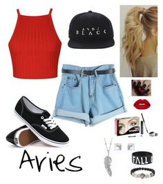 """""""Aries"""" by secretivediva ❤ liked on Polyvore featuring Chicnova Fashion, Ally Fashion, Vans, Lime Crime, Bare Escentuals, Humble Chic and Penny Preville"""