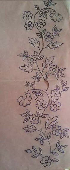 Machine Embroidery Patterns Machine Embroidery Designs at Embroidery Library! Border Embroidery, Learn Embroidery, Machine Embroidery Patterns, Silk Ribbon Embroidery, Hand Embroidery Designs, Floral Embroidery, Embroidery Stitches, Embroidery Jewelry, Bordado Floral
