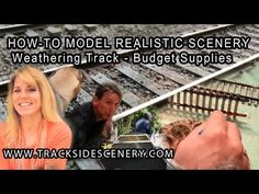 ▶ How-To Model Realistic Model Railroad Scenery - Weathering Track - Budget Supplies - YouTube