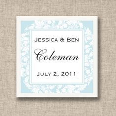 Floral Wedding Favor Tags (available in other colors)   #exclusivelyweddings   #lightbluewedding