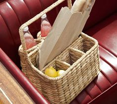 Seagrass Picnic Carrier #potterybarn