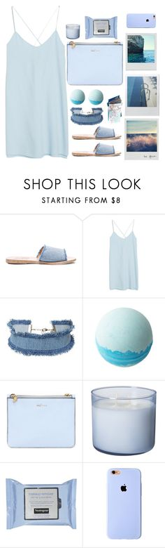 """""""Pale Blue Dress"""" by unicornonthecobb ❤ liked on Polyvore featuring Ancient Greek Sandals, MANGO, DANNIJO, INDIE HAIR, KEEP ME, Disney, Alexander McQueen and unicornonthecobb"""