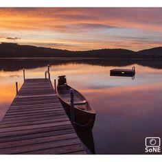 Maine  Pic of the day 09.14.15  Photographer @kusumotophoto  Congratulations!   A favorite from Peabody Pond.  #scenesofME #peabodypond #sebagolake #sebagoMaine #canoe #canon #team_canon  #vacationland #igmaine #autumn