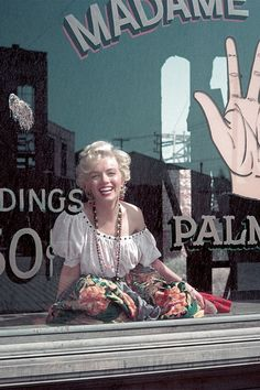 Marilyn dressed as a gypsy palm reader, April 1956. Photo by Milton H Greene.