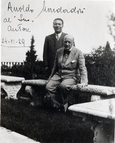 """Arnoldo Mondadori al """"suo"""" autore, 24 novembre 1929. «Il 26 aprile 1926 D'Annunzio convocò al Vittoriale il suo """"caro Montedoro"""" (come aveva deciso di ribattezzarlo)».  Enrico Decleva, Arnoldo Mondadori, Garzanti"""