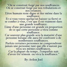 """#wp #poetry #quotes #instapoetry #avilonjoel """" We build ourselves forged by our sufferings.  We build ourselves forged by our adversities and our wanderings. The human being remains deserving and proud even in the suffering. And if you see somebody lowering its pride and confiding in you it is that he(she) is really in a big suffering. The soul of a person is big in proportion to what this person lived as suffering. Because often bigger will be the maturity of a person when she(he) will have…"""