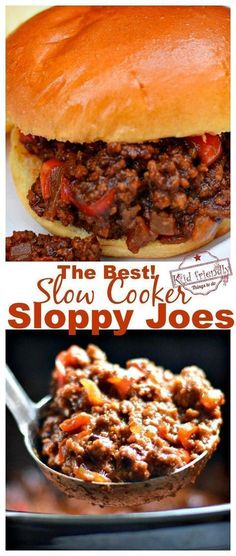 The Best Slow Cooker Sloppy Joes I've Ever Had Recipe! - Easy crock pot recipe f. The Best Slow Cooker Sloppy Joes I've Ever Had Recipe! - Easy crock pot recipe for ground sirloin beef. Great family dinner for busy nights - www. Ground Beef Crockpot Recipes, Slow Cooker Ground Beef, Beef Recipes For Dinner, Best Slow Cooker, Crock Pot Recipe With Ground Beef, Best Crockpot Recipes Ever, Kid Friendly Crockpot Recipes, Dinner Crockpot, Turkey Recipes
