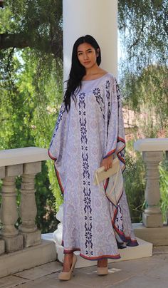 Baraka Formal Kaftan Abaya Dress-Blue   Modest Kaftan Dress   Artizara – ARTIZARA.COM Abaya Fashion, Modest Fashion, Fashion Dresses, Modest Dresses, Dresses With Sleeves, Dinner Wear, African Maxi Dresses, Kaftan Abaya, Muslim Dress