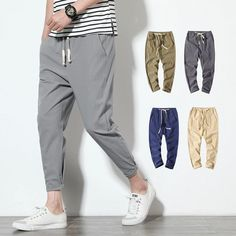 Valentine's Day Gifts For Men He's Going To Love Harem Pants Men, Cotton Harem Pants, Men's Pants, Pants Outfit, Jogger Pants, Cargo Pants, Khaki Pants, Trousers, Pantalon Streetwear