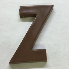 The letter Z made of milk chocolate.