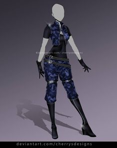 AUCTION) – Outfit Adopt 909 by CherrysDesigns on DeviantArt - therezepte sites Clothing Sketches, Dress Sketches, Drawing Anime Clothes, Dress Drawing, Hero Costumes, Anime Costumes, Fashion Design Drawings, Fashion Sketches, Anime Outfits