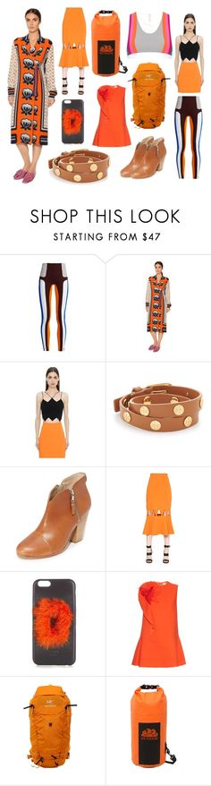 """Orange Ocean"" by cate-jennifer ❤ liked on Polyvore featuring No Ka'Oi, Stella Jean, David Koma, Tory Burch, rag & bone, Fendi, Delpozo, Arc'teryx and Sundek"