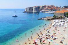 """Beach Banje"""" in old city Dubrovnik"""