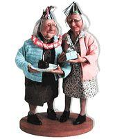 """Sisters"" Richard Simmons Doll Rowena & Cabrina by doll artist Annie Wahl Dollhouse Dolls, Miniature Dolls, Dollhouse Miniatures, Doll Toys, Baby Dolls, Super Mamie, Richard Simmons, Polymer Clay Dolls, Doll Quilt"