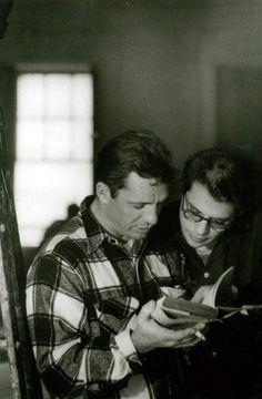 Jack Kerouac et Allen Ginsberg filming of Pull My Daisy, New York, March 1959. Photo John Cohen.