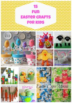 Easter Crafts for Kids - 15 Fun Ideas via All About the Mommies  #easter #crafts #kids
