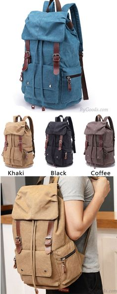 22c6043a76 Retro Large Laptop Rucksack Travel School Bag Travel Bags Thick Canvas  Backpack only  38.99