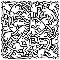 Party of Life Invitation, 1986 by Keith Haring - art print from Easyart.com