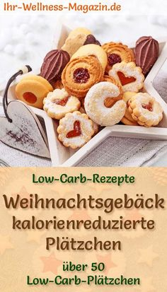Low Carb Weihnachtsplätzchen backen – 90 einfache Rezepte ohne Zucker Baking Low Carb Christmas Cookies: Delicious Recipes for Christmas Cookies – low in carbohydrates, low in calories, without cornmeal and sugar … carb bake free Low Carb Sweets, Low Carb Desserts, Low Carb Recipes, Diet Desserts, Free Recipes, Easy Cookie Recipes, Baking Recipes, Simple Recipes, Calories In Vegetables