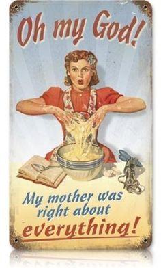 Mom Vintage Kitchen Sign