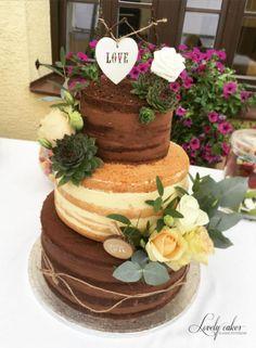 Nahá svadobná torta, Autorka: Veronika Ficová, Tortyodmamy.sk