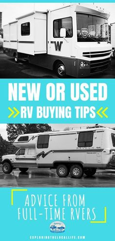 New or Used RV? RV Buying Advice from the Experts. — Exploring the Local Life Rv Homes, Small Rv, Rv Travel, Travel Tips, Used Rv, Buying An Rv, Rv Organization, Rv Tips, Rv Parks