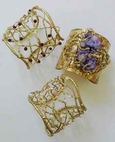 handcrafted cuff by peewee benitez #wearableartbypeeweebenitez
