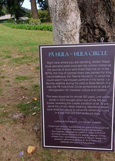 Maui, Hawaii. Pa Hula-Hula Circle in Kula District.
