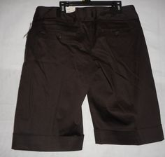 New Womens Size 9/10 Brown Bermuda Shorts Capris Studio Y Business Casual #Maurices #BermudaWalking
