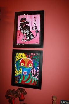 Hang and frame your kid's art work.