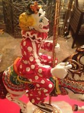 Ron Lee (708) Catch The Brass Ring Large Clown on Carousel Horse