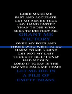Father's Day Gift Grant Me Victory Thin Blue Line Police Officer, LEOW, Law Enforcement, Police Wife Print, Canvas