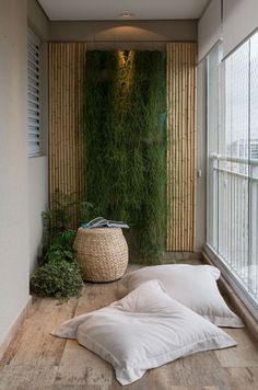 meditation room decor zen space / room zen decor & room zen decoration & zen living room decor & meditation room decor zen space & zen home decor living room & yoga room ideas zen space decor & zen decorating ideas living room & zen meditation room decor Garden Design, Balcony Decor, Outdoor Space, Yoga Room, Vertical Garden Indoor, Zen Space, Meditation Rooms, Zen Room