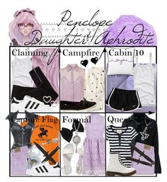 Requested by rasmarie: Penelope Daughter of Aphrodite Percy Jackson Outfits, Percy Jackson Fandom, Artemis, Aphrodite Aesthetic, Daughter Of Poseidon, Character Inspired Outfits, Rick Riordan Books, Fandom Fashion, Fandom Outfits