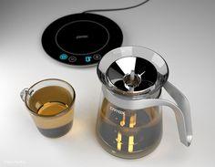 Creative Tea Kettles: TEA-Off! Creative Tea Kettles: TEA-Off! tea Kettle, Tea Sleeve, Pyrex Glass Induc… Creative Tea K Tea Infuser, Tea Kettles, Mug Warmer, Kitchenware, Tableware, Kitchen Must Haves, Glass Vessel, How To Make Tea, Pyrex