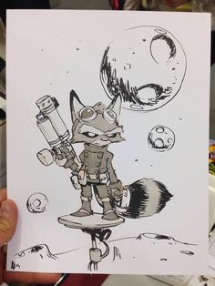 Rocket Raccoon commission for a fan at Emerald City Con. #eccc