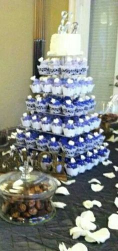 Purple Cupcake Tower Spectacular @chalguba